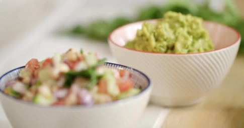 John Torode guacamole with tomato salsa recipe on John and ...