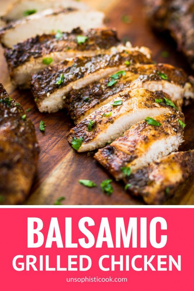 Juicy Balsamic Grilled Chicken | Whole30 Chicken Marinade ...
