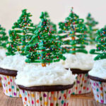 Just A Taste | Chocolate Christmas Tree Cupcakes With …