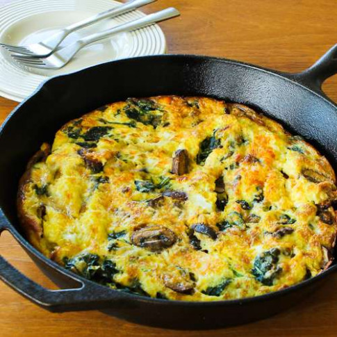 Kalyn's Kitchen®: Mushroom Lover's Frittata with Spinach ...