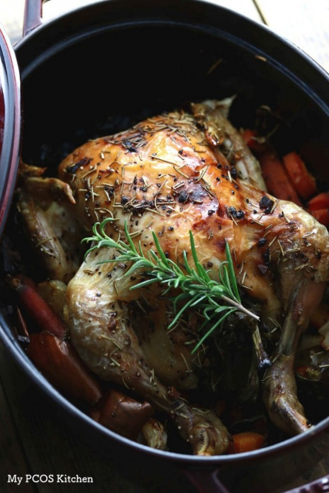 Keto Paleo Dutch Oven Roasted Chicken – My PCOS Kitchen