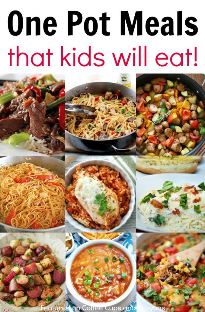 Kid Friendly One Pot Meals | Good Eats | Dinner recipes ...