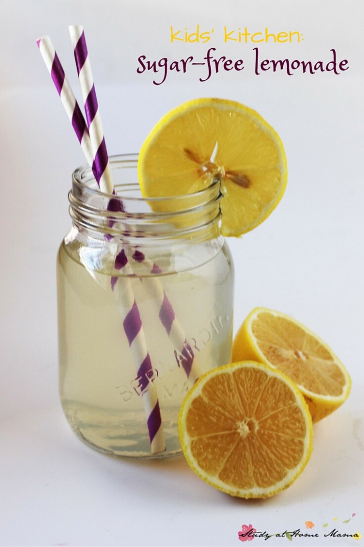 Kids Kitchen: Making Sugar-free Lemonade (Printable Recipe)