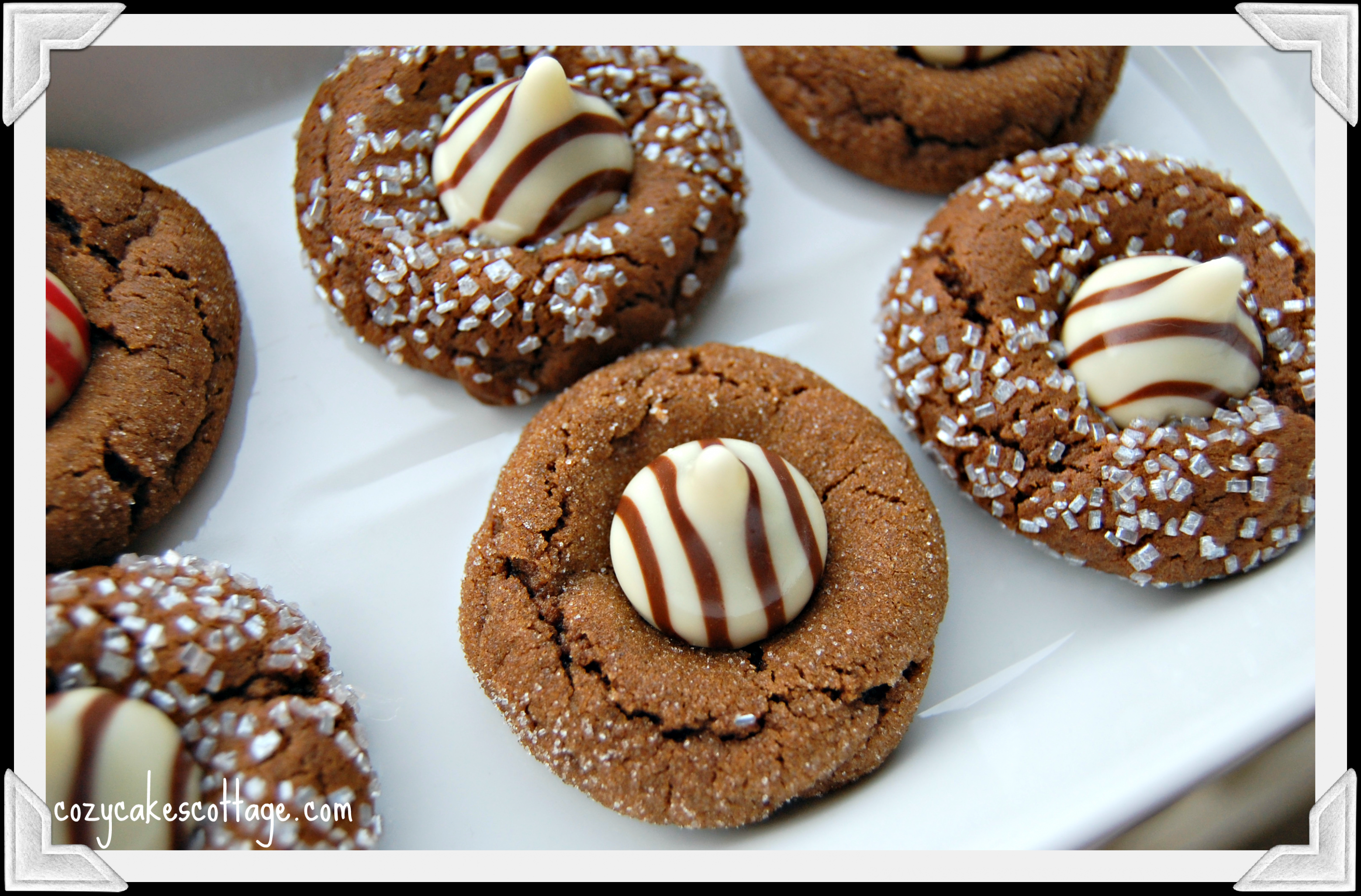 Kissed Gingerbread Cookies