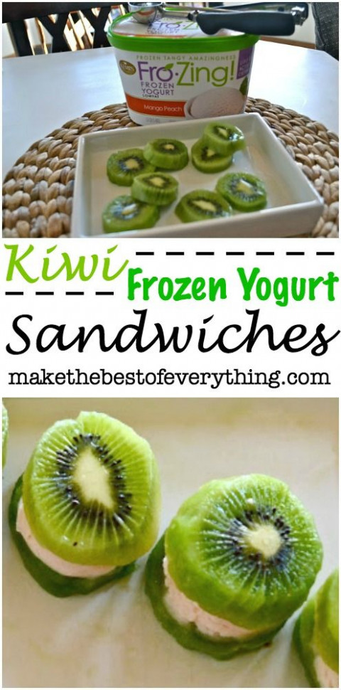 Kiwi Frozen Yogurt Sandwiches | HEALTHY MEAL & SNACKS FOR ...