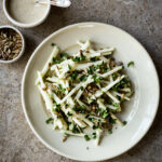Kohlrabi Tahini Salad - Dishing Up the Dirt