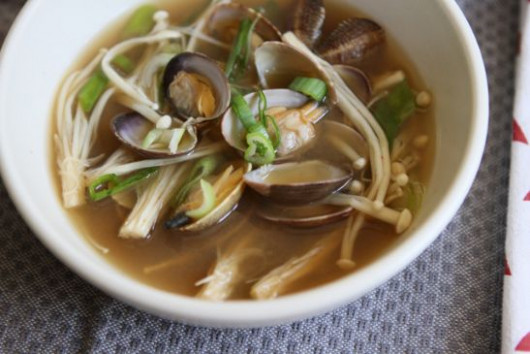 Korean Miso Soup with Clams Recipe | SparkRecipes