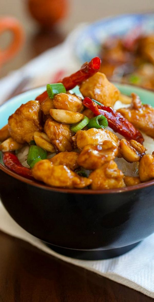 Kung Pao Chicken | Recipe | Homemade, Spicy and Kung pao ...
