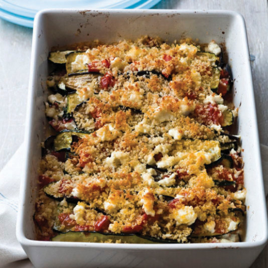 Layered Eggplant, Zucchini and Tomato Casserole Recipe ...