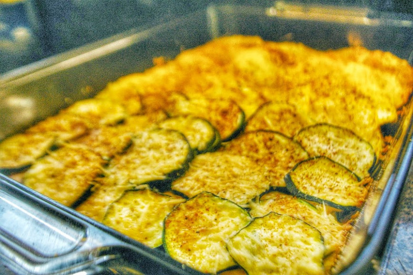 layered zucchini yellow squash casserole