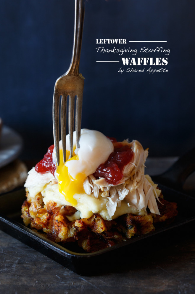 Leftover Thanksgiving Stuffing Waffles - Shared Appetite
