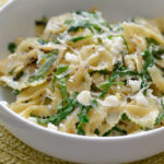 Lemon And Arugula Farfalle With Feta And Basil