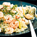 Lemon, Chilli And Garlic Prawns With Angel Hair Pasta …