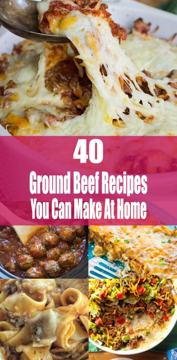 List of Ground Beef Recipes You Can Make Easy At Home