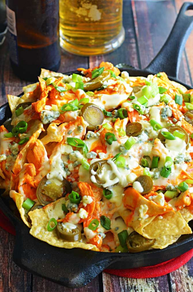 Loaded Buffalo Chicken Nachos | Recipe | Dips, Appetizers ...