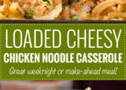 Loaded Cheesy Chicken Noodle Casserole   The Chunky Chef