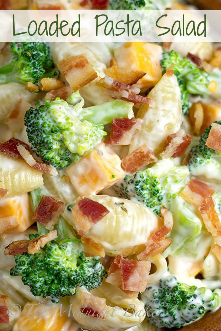 Loaded Pasta Salad | bakeatmidnite.com | #salad #pasta # ...