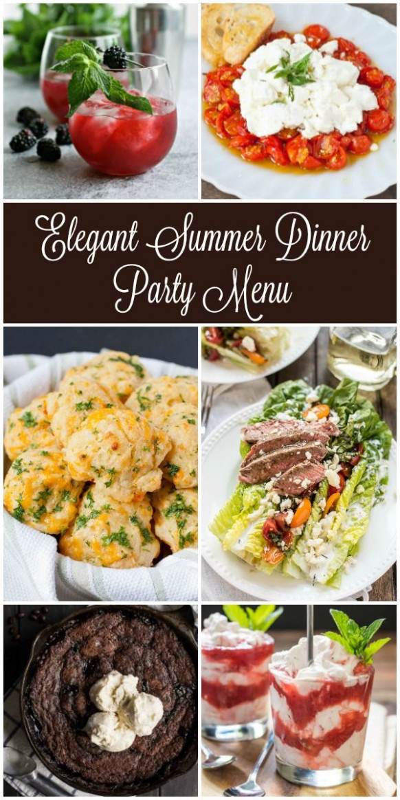 Looking for inspiration for your next summer dinner party ...