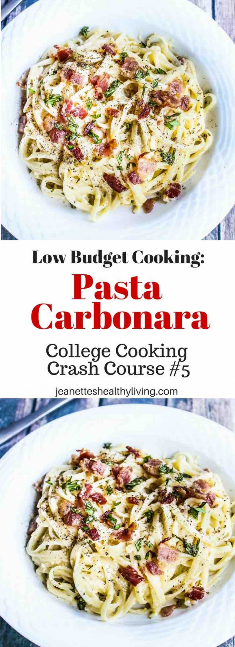 Low-Budget Cooking: Pasta Carbonara Recipe - Jeanette's ...
