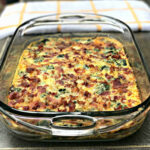 Low Carb Bacon, Egg, And Spinach Breakfast Casserole
