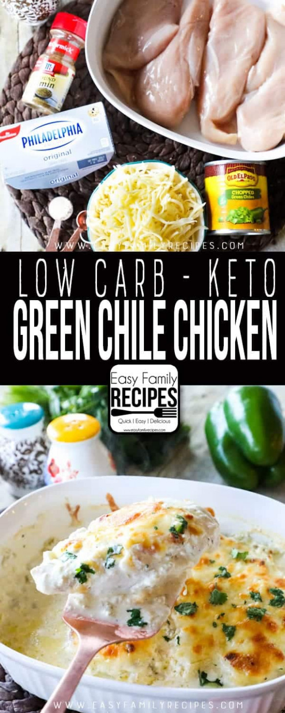 Low Carb - Keto Green Chile Chicken · Easy Family Recipes