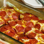 Low Carb Pepperoni Pizza Chicken Bake Recipe | SparkRecipes