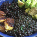 Lunch Bowl: Carribean Style Wild Rice And Black Lentils