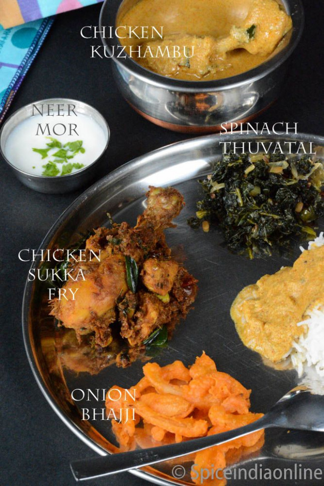 Lunch / Dinner Menu 10 – South Indian Non Vegetarian Lunch ...