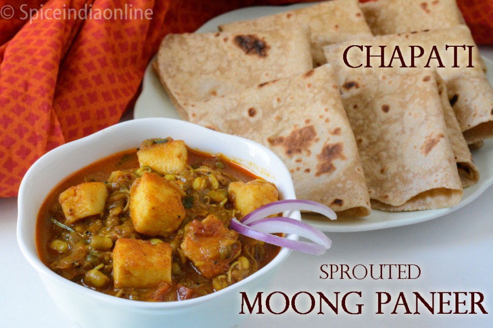 Lunch / Dinner Menu 15 - Chapati with Sprouted Moong ...