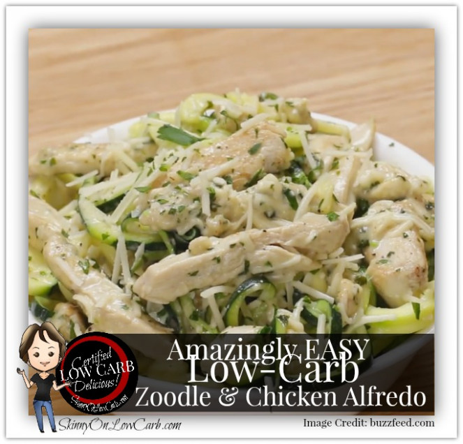 Make a Low-Carb Delicious Zoodle & Chicken Alfredo One ...