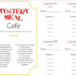 Make A Memory Mystery Dinner – A Little Tipsy