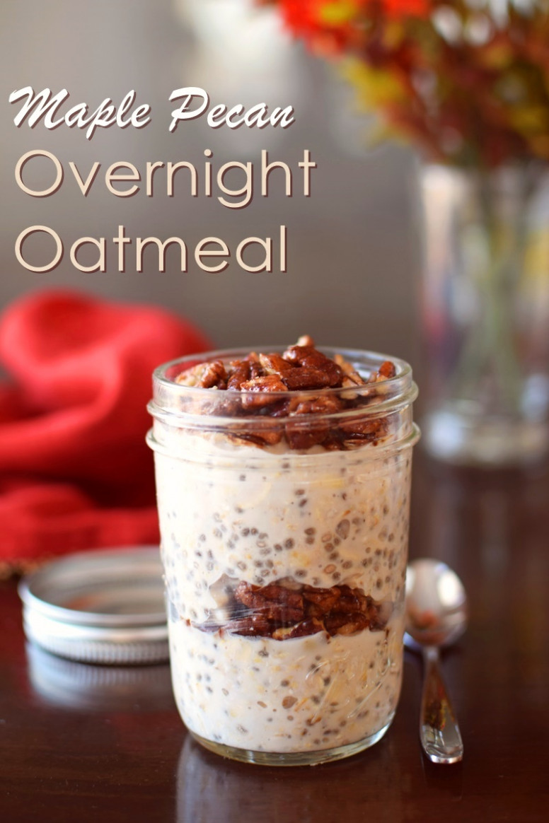 Maple Pecan Overnight Oatmeal Recipe (Dairy-Free)