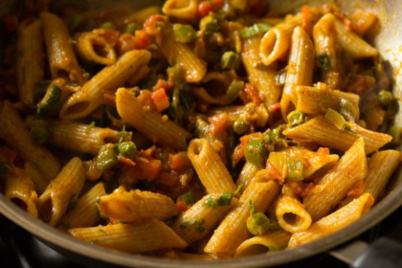 Masala Pasta Recipe | Indian Style Masala Pasta Recipe …