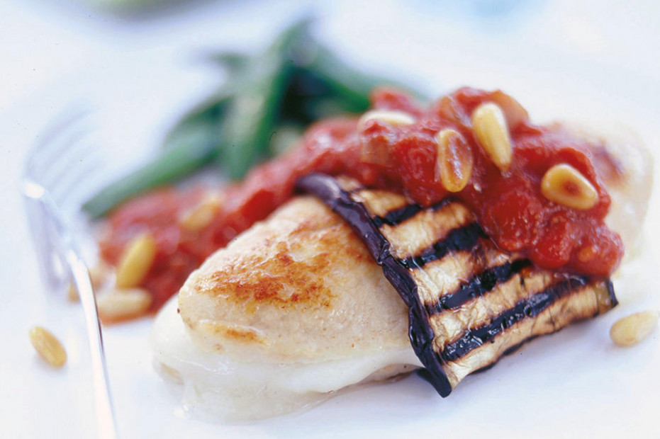 Meat Free Chicken Fillets with Aubergine & Mozzarella ...