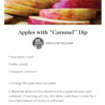"Medical Medium's Apple Slices And Date ""Caramel"" Dip …"