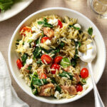 Mediterranean Pork and Orzo Recipe | Taste of Home