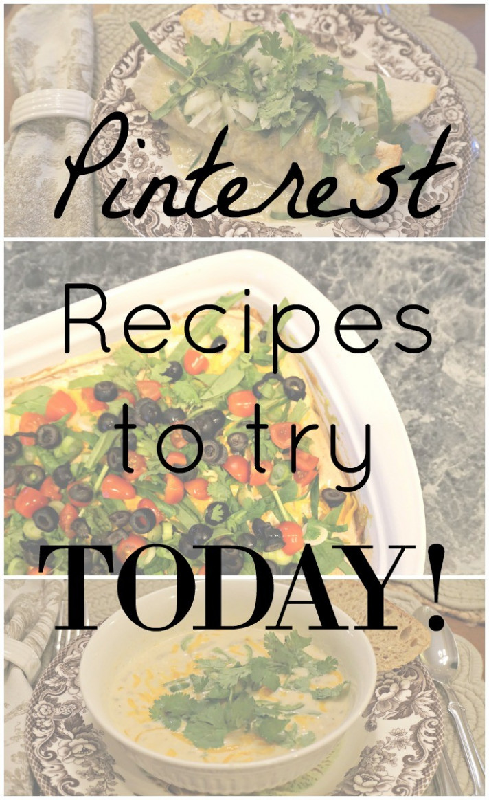 Menu Monday | New Pinterest Recipes You Have to Try! | Cup ...