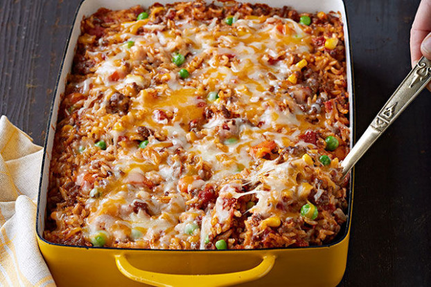 Mexican Beef & Rice Casserole Recipe | KeepRecipes: Your ...