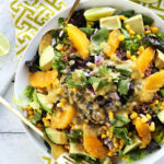 Mexican Quinoa Salad With Orange Lime Dressing