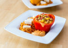 Mexican Style Recipes: Rice, Peppers, Cheese and Humus