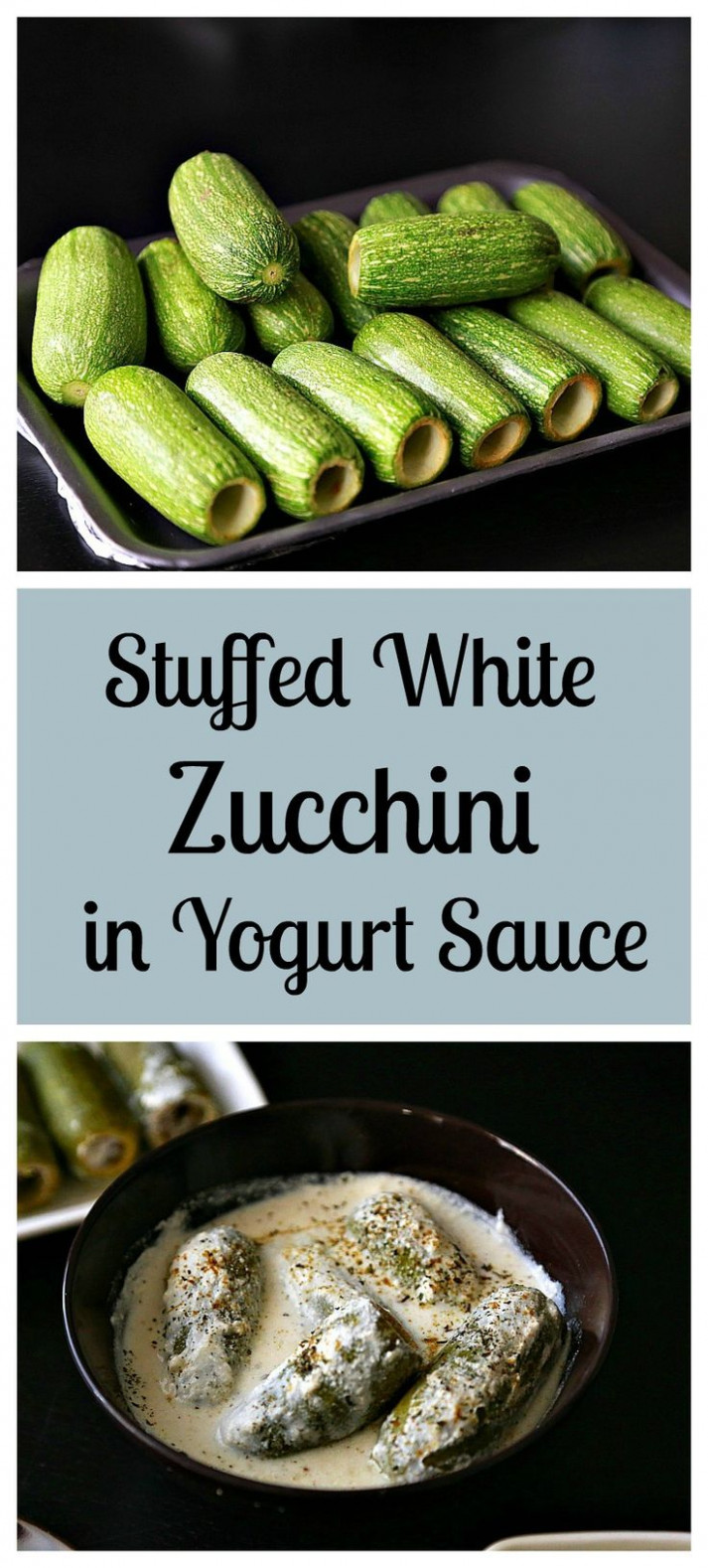 Middle Eastern recipes - These stuffed white zucchini with ...