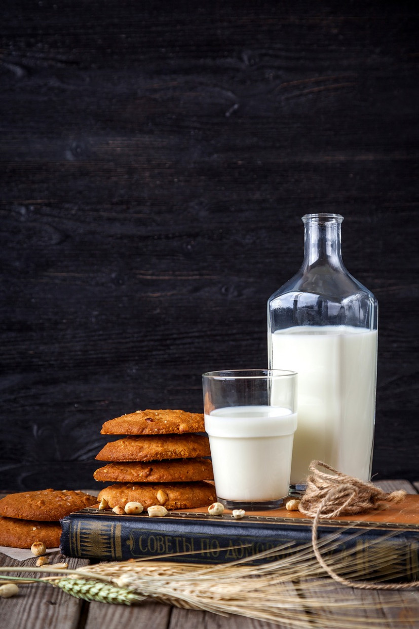 Milk, Cookies, Oatmeal, Confectionery