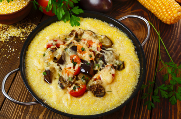 Mince and mushroom polenta bake recipe - goodtoknow