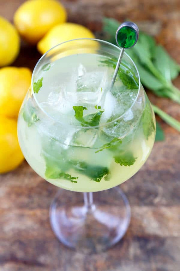 Mint Lemonade Recipe (Low Sugar) - Pickled Plum Food And ...