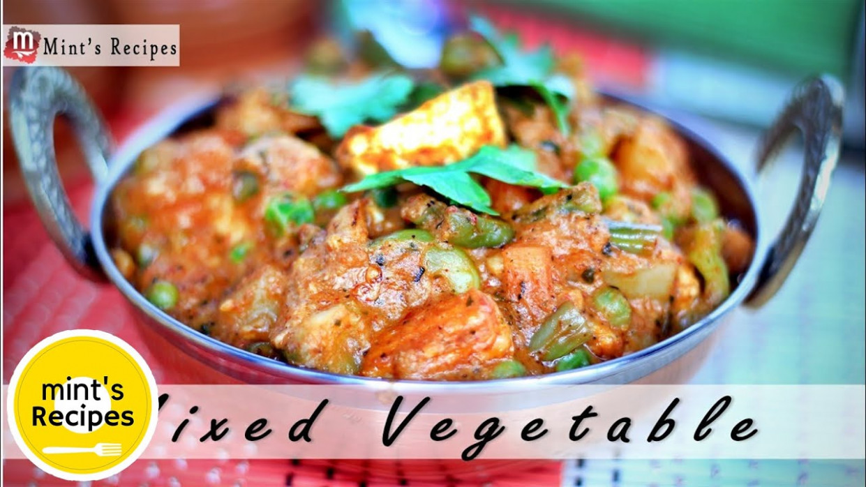 Mix Vegetables Recipe in Hindi - Indian Vegetarian Recipes ...