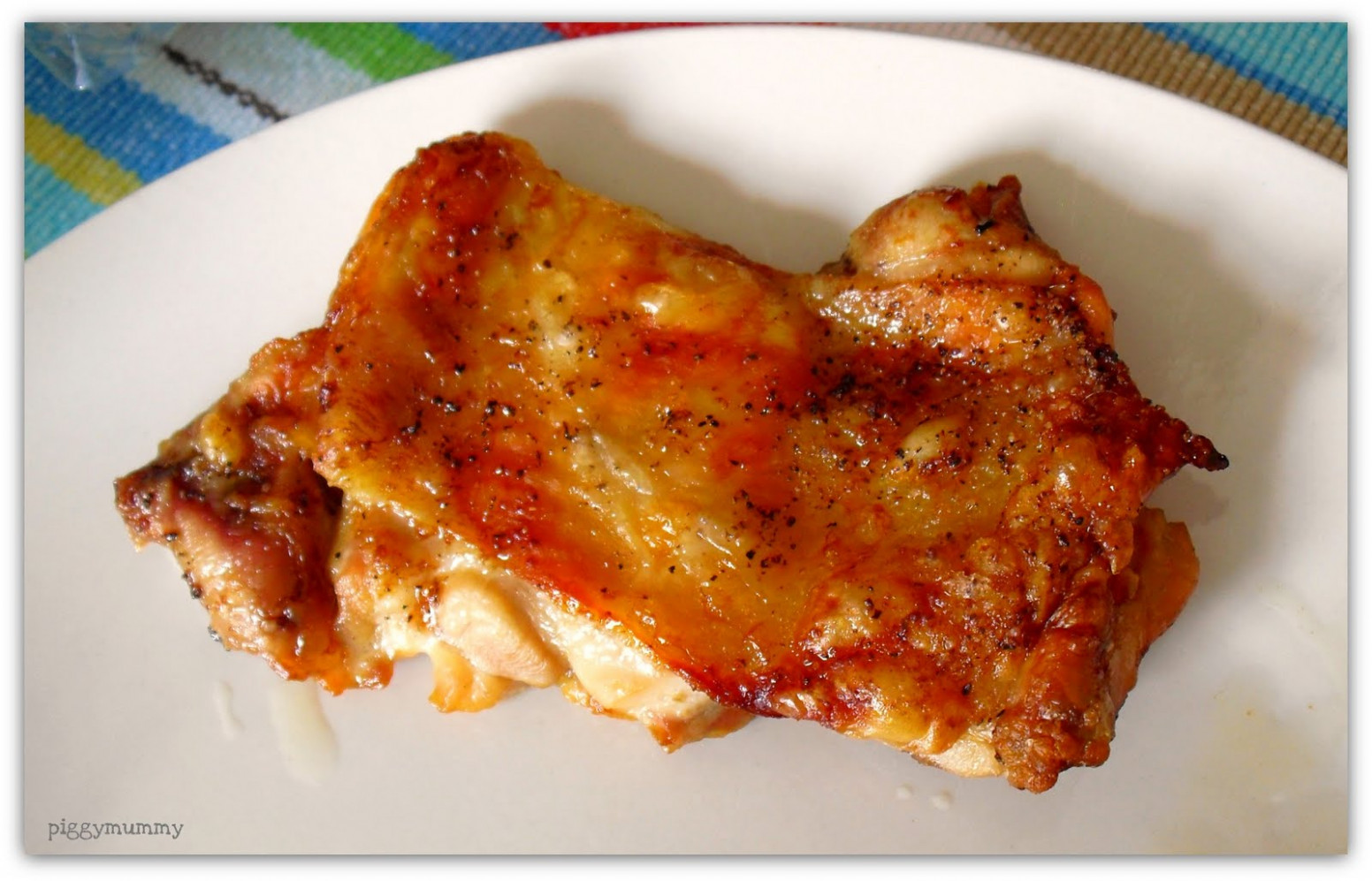 Mom's Crazy Kitchen: Baked ShaoXing Chicken Thigh Fillet