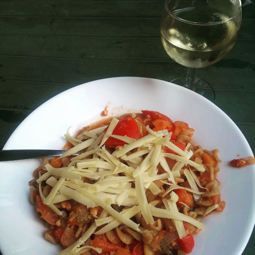 My dinner for today. As You know this is my favorite recipe: Pasta. . . .