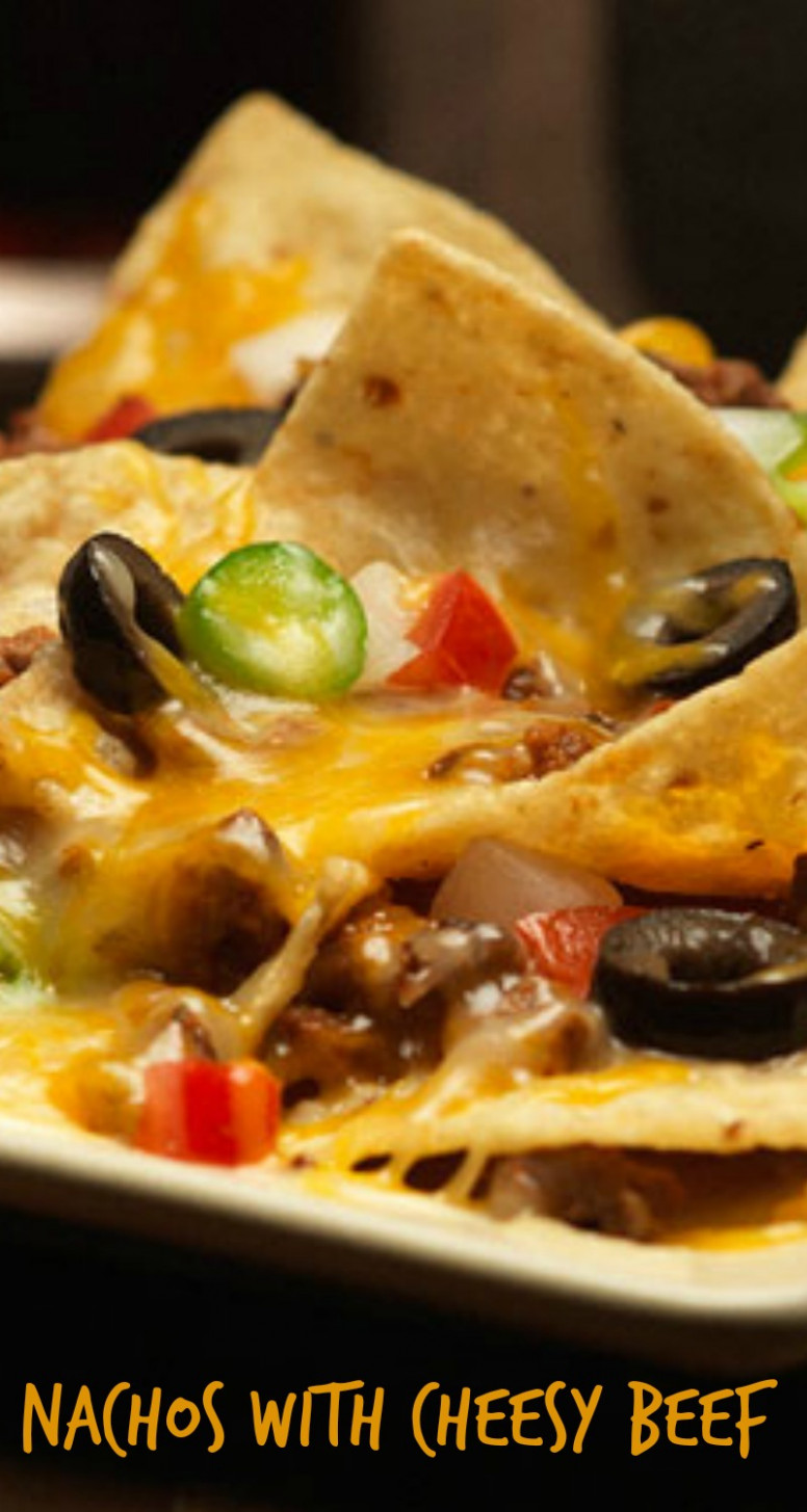 Nachos with Cheesy Beef - At Home With My Honey