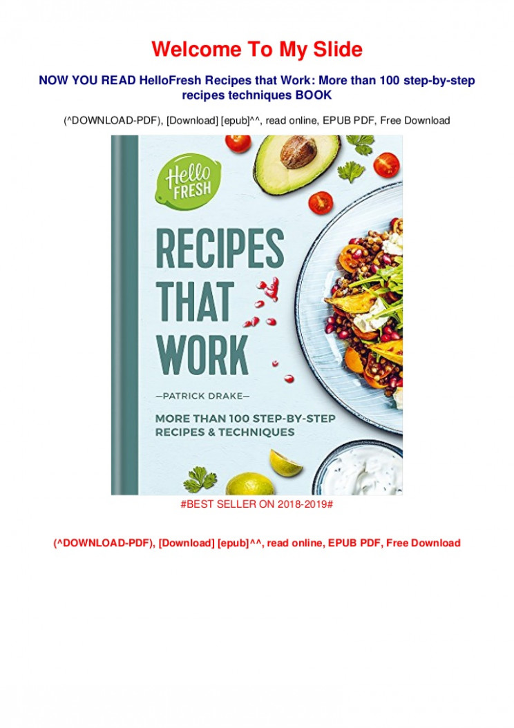 NEW LAUNCH!] HelloFresh Recipes that Work: More than 12 ...