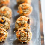 No Bake Carrot Cake Granola Bites Recipe Low Sugar #recipe #snack #healthy